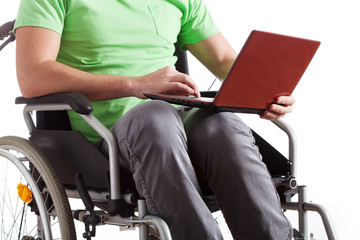 Handicapped with laptop