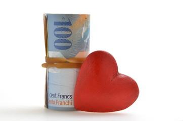 Geld Herz
