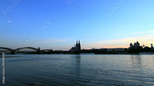 Cologne, Germany, Skyline, time lapse
