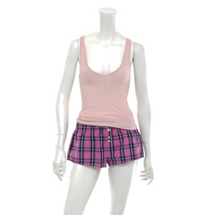 female mannequin t-shirt dressed in striped shorts trousers