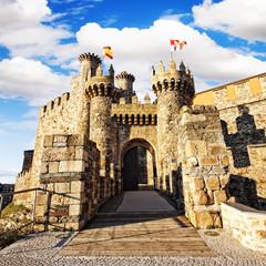 Castillo templario (templar castle) in Ponferrada, Leon