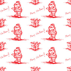red seamless santa claus