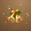 Vector Illustration of Two Christmas Bells