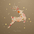Vector Illustration of an Abstract Christmas Reindeer