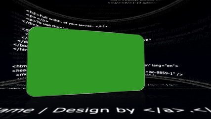 Green Screen Monitor in Html Room, with Alpha Channel