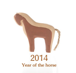 2014 Chinese Lunar New Year of the Horse,wooden toy horse