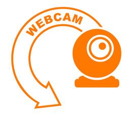 webcam flèche orange