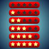 Toolbar red rating, stars recesses for them