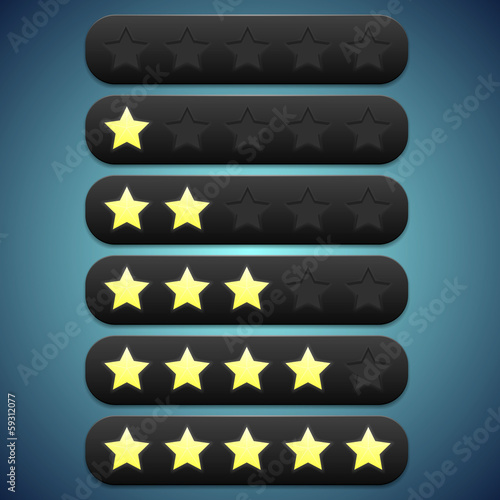Toolbar black rating, stars recesses for them
