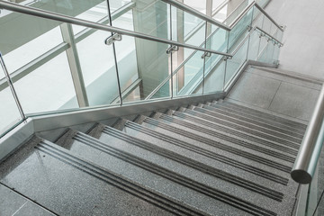 Several steps of granite stairs