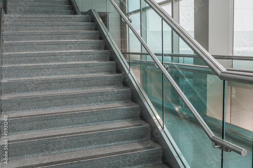 Several steps of granite stairs