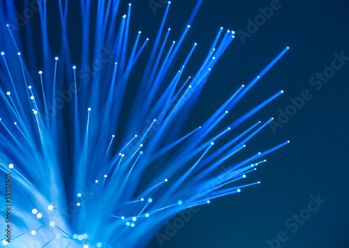 computer data concept with fiber optic for global communication
