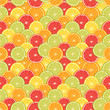 Fresh colorful citrus fruits seamless pattern