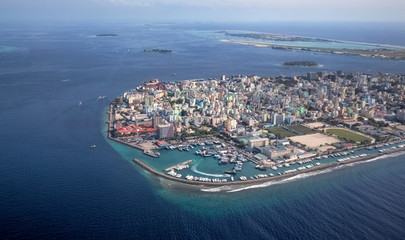 City of Male in Maldives region
