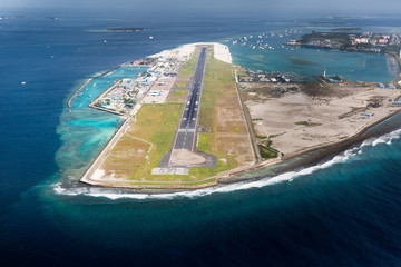 Airport of City Male in Maldives region