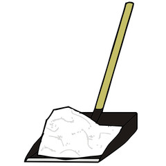 snow shovel vector illustration