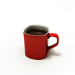 red cooffe cup
