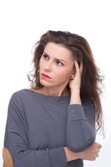 Young beautiful women - contemplation