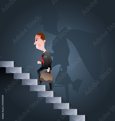 Stairway to success vector-Business concept