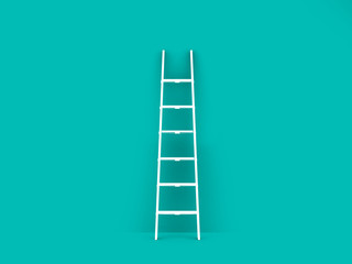 Single Ladder in Empty Room