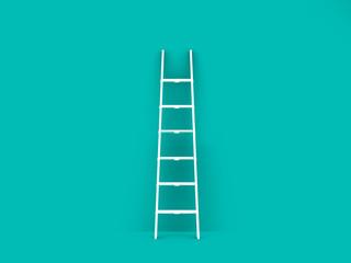 Single Ladder in Empty Room