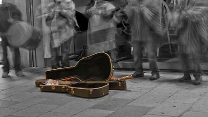 Street musicians in Graz, Austria