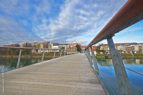 Pedestrian bridge over Drava in Maribor