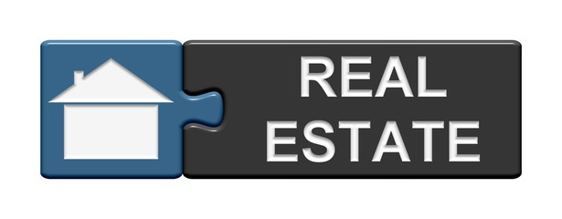 Puzzle-Button blau grau: Real Estate