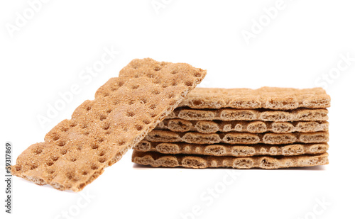 Close up whole grain crisp bread.