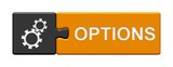 Puzzle-Button grau orange: Options