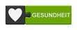 canvas print picture - Puzzle-Button grau grün: Gesundheit