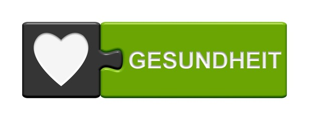 Puzzle-Button grau grün: Gesundheit
