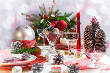 Christmas xmas eve table setting