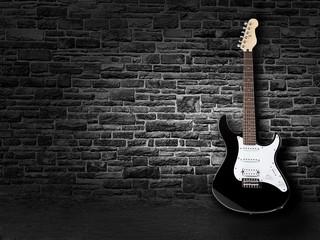 Gitarre an der Wand