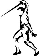 stylized swordsman