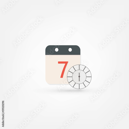 clock and calendar icon