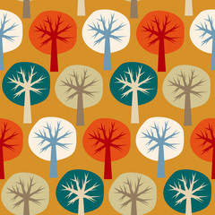 Seamless vector pattern of four seasons of the year