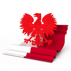 poland coat of arm flag eagle