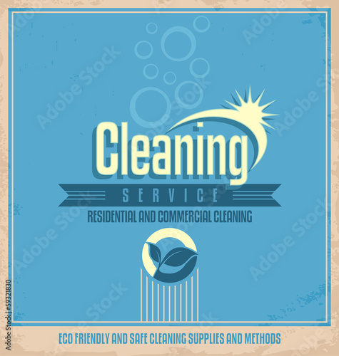Vintage poster design for cleaning service