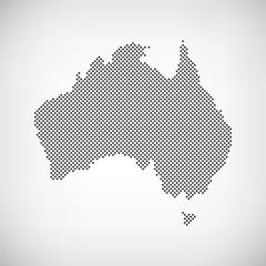 Australien Karte Punkte