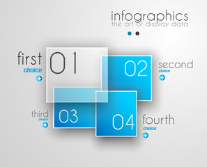 Infographic Design Template with modern flat style