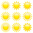 9 Sun Icons Yellow