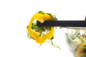salad with arugula and pepper