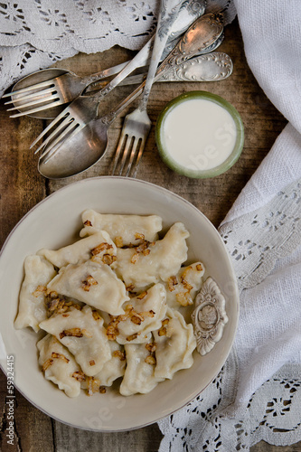 Ukrainian homemade dumplings