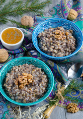 Kutia, traditional Christmas dish in Ukraine