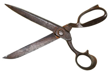 wide open old tailor shears