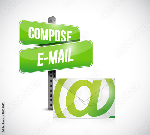 compose mail concept illustration design