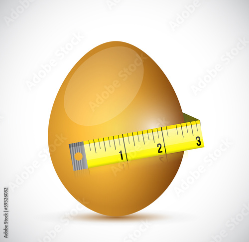 egg and measure tape illustration design