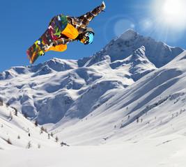 rider in fresh snow