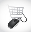 online shopping mouse concept illustration design